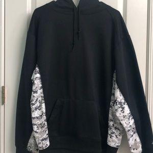 Black army hoodie